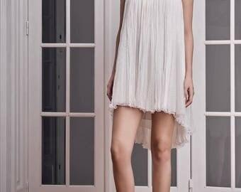 Silk, polka dots and chantilly  dress