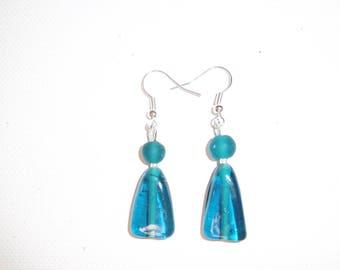 Earring, blue