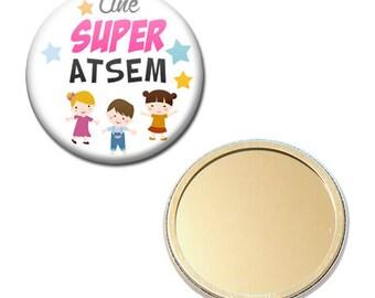 Mirror Pocket Badge 56 mm - a great pre-school kindergarten kids gift