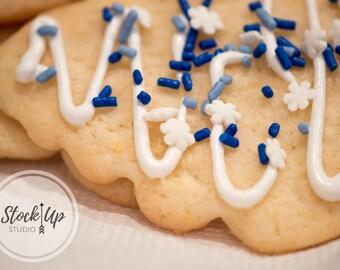 Christmas Cookie, Stock Photo, Holidays, Food, Baking, Cookies, Sprinkles