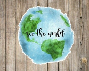 See the world decal