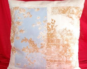 COVER of Pillow 40/40 toile de Jouy