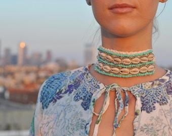 Seashell Cuff,Burning Man, Festival Clothing, Burning Man Clothing Women, Rave Accessories,Music Festival Clothing