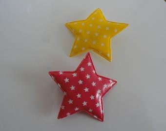 "Set of two star ""Vanilla/Strawberry"" Alligator Clips"