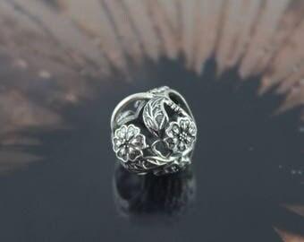Authentic Pandora Floral Heart Padlock Bead 791397