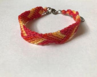 Ombre Zigzag Embroidery Floss Woven Braided Friendship Bracelet