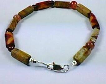 Bracelet gemstones tones stone - Silver 925