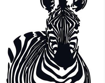 Zebra decal *chose your color*