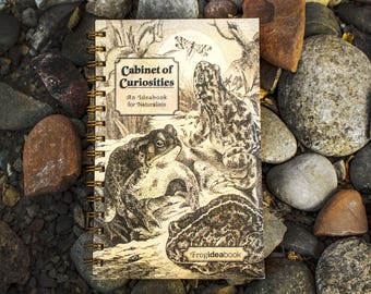 Cabinet of Curiosities Frog IdeaBook -- (5 x 8.5 inches) Side-Bound Notebook