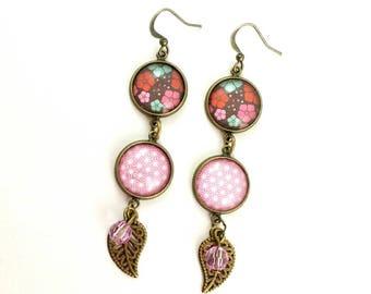 Earrings pendants #Printemps Japanese.