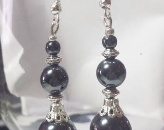 Hematite earrings genuine trio 2