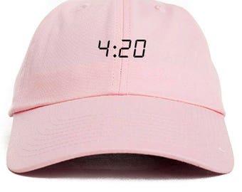 420 Dad Hat Adjustable Baseball Cap New - Pink