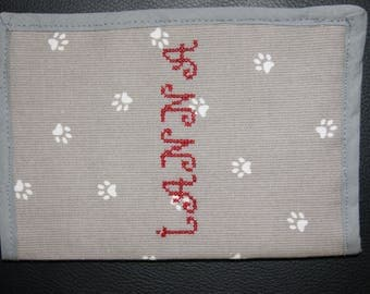 Health health embroidered with dog's name
