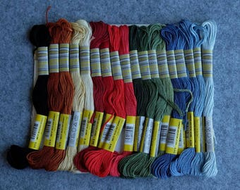 Winter Collection Cotton Embroidery Floss Pack 36 Different Colors 8.7Yards Cross stitch 6 strands