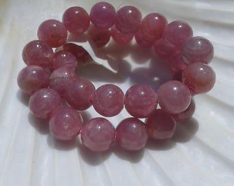 rare! AA Ruby (Pink) 7mm Round Beads