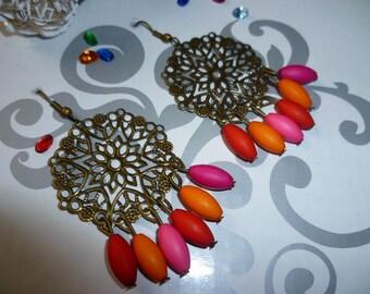 Bronze earrings and pendants beads