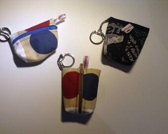 vintage violin motif fabric hand made headphones cases round