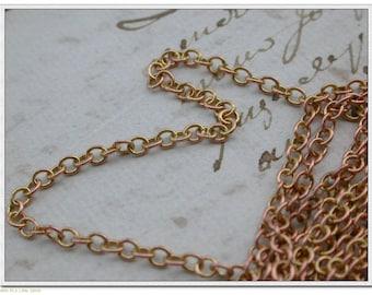 BRASS chain Golden link SOUDEE 3.2 pounds 2.8 mm