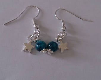 Set earrings and necklace stars