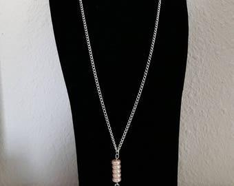 Silver filigree necklace, square