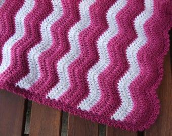 Baby Blanket - Ripple Pattern