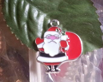 1 pendant enamel alloy for Christmas of 28 mm