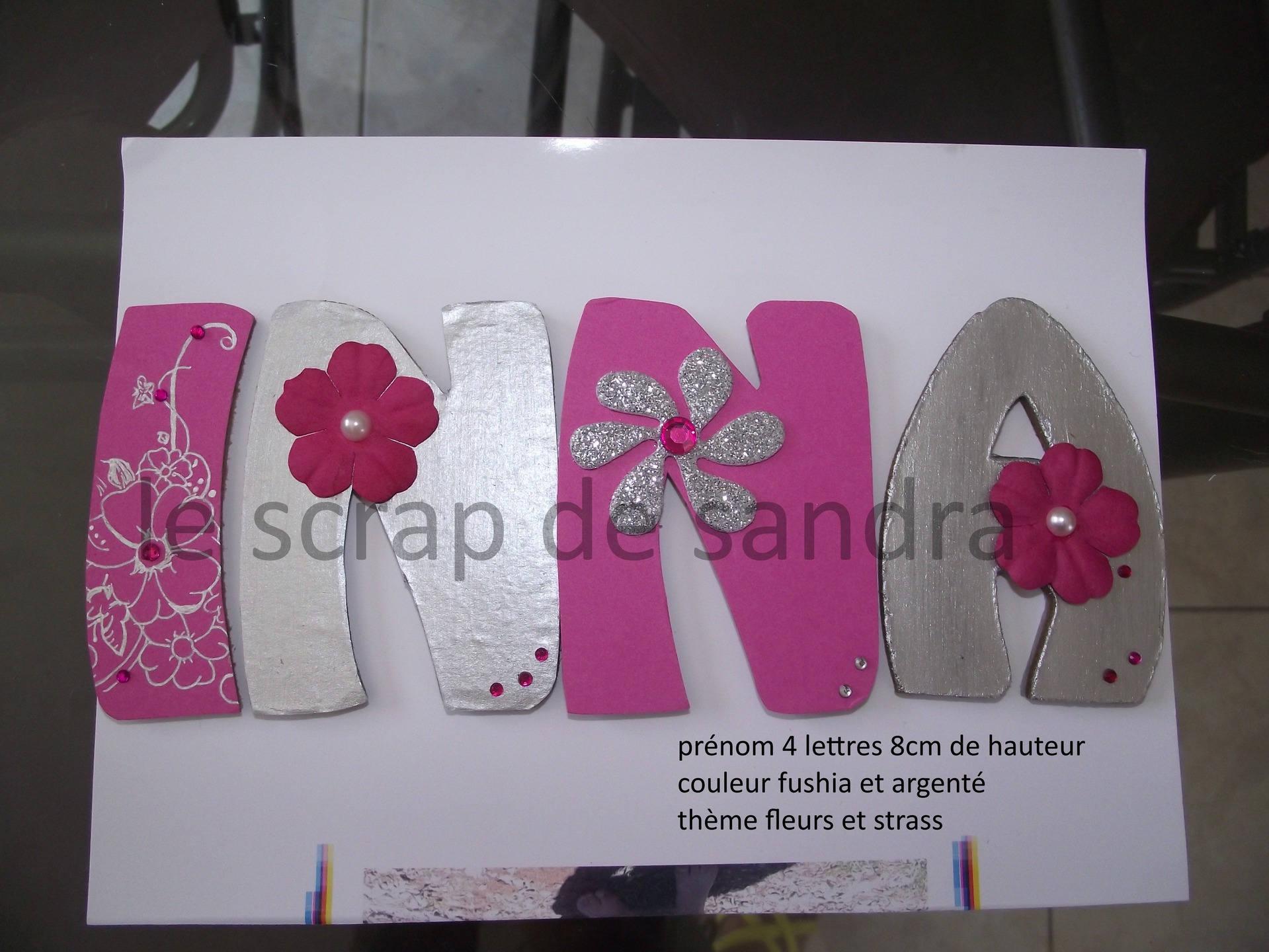 Lettre en bois pr nom en bois plaque de porte lettre for Decoration porte prenom