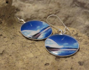 "Silver earrings ""collection planetary landscapes"" 1"