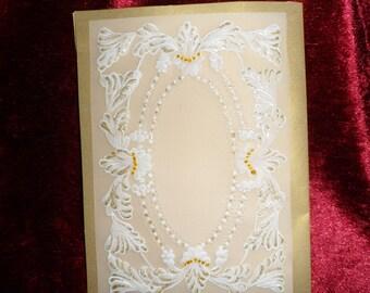 announcements or wedding congratulations card