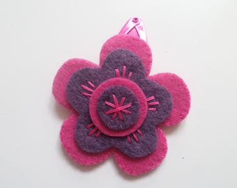 "Felt hair clip ""Fanny"" Flora Collection"