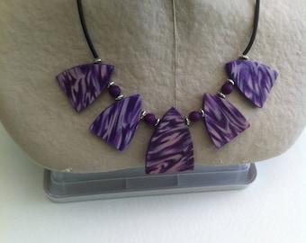 White plum purple necklace