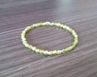 Faceted green Beads Bracelet