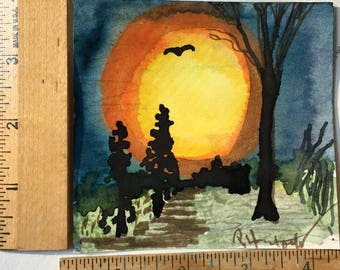 Moon of Six original painting OOAK
