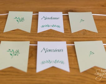 2 Chair banners - Provence Theme