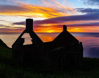 Limited Edition Landscape Photograph: Sunrise at Lamberton Bothy