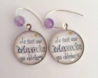 """Grandma that tears"" earrings in 925 Silver"