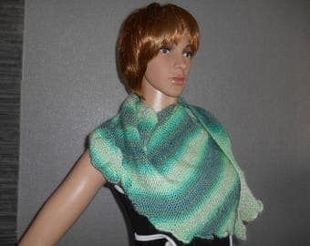stunning originality for this dragon in green ombre scarf