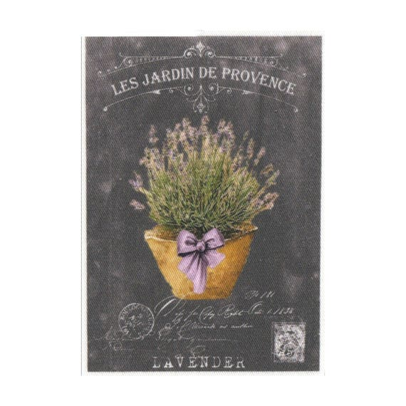 """Applied fusible - Collection """"Lavender background chalk"""" AT404-4"""