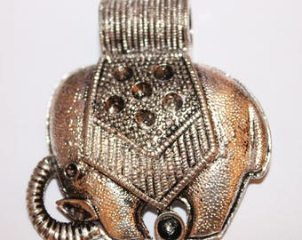 Large elephant pendant, silver plated, 55 * 54 mm