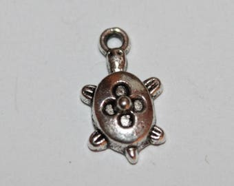 Turtle charm, 16 * 10 mm, set of 5