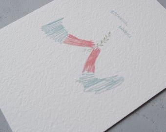 botanical buddies card 11x15 cm