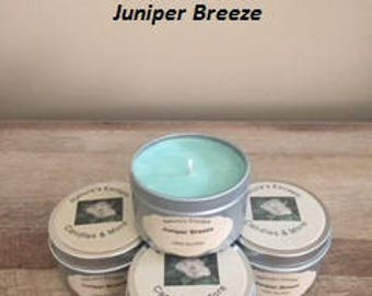 Juniper Breeze Soy Wax 6 oz. Candle Tins