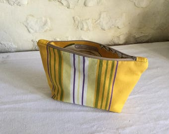 Small pouch made of cotton bayadere