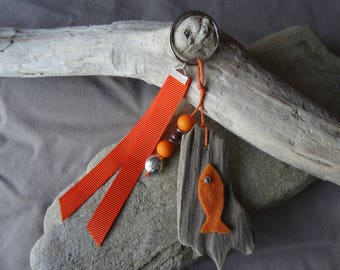 Keyring or bag Driftwood orange