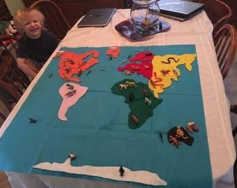 Large animal habitat map