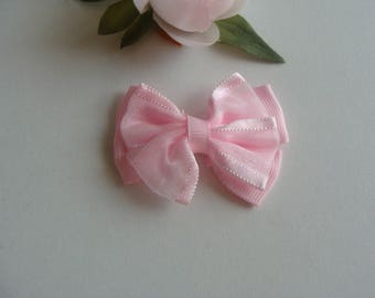 fancy Ribbon clip 5 pink hair bow, 5 * 4 cm