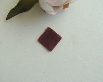 square leather Burgundy color applique