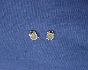 2 bronze clock charms