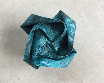 Origami Rose - Aqua