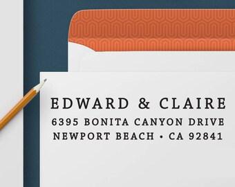 Return Address Stamp 345 - Self Inking Stamp, Custom Address Stamp, Custom Stamp, Personalized Address Stamp, Wedding and Housewarming Gift